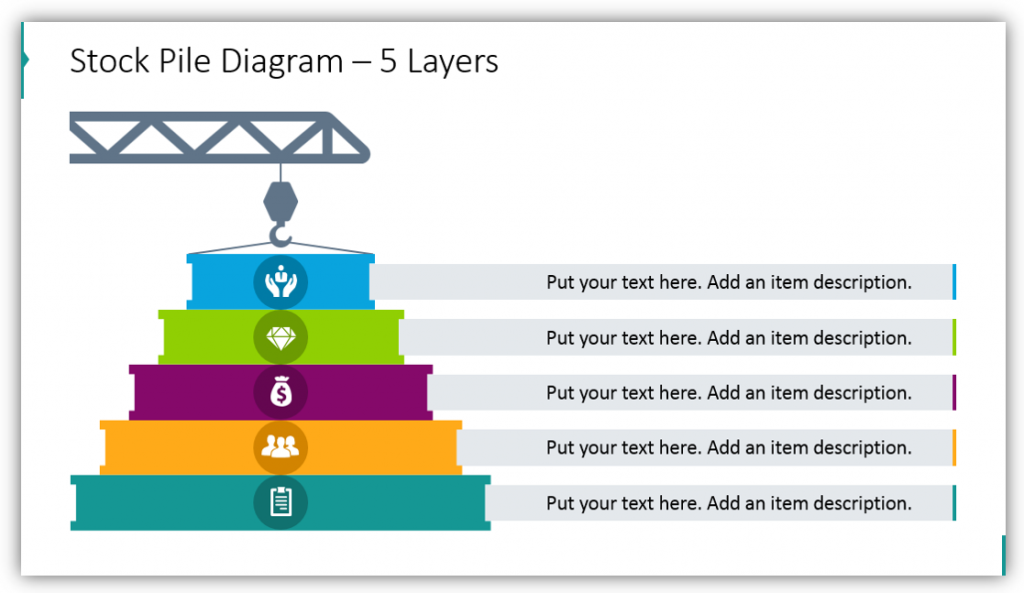 Stock Pile Diagram crane graphics – 5 Layers