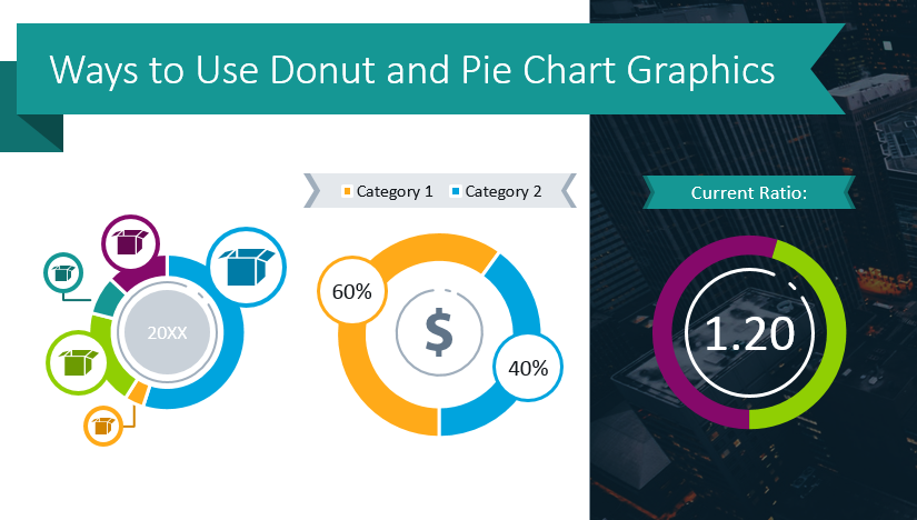 Ways to Use Donut and Pie Chart Graphics