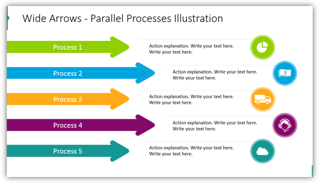 Wide Arrows - Parallel Processes Illustration
