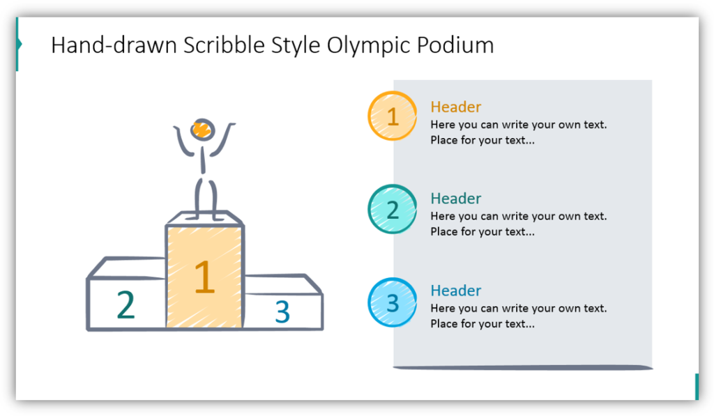 Hand-drawn Scribble Style Olympic Podium
