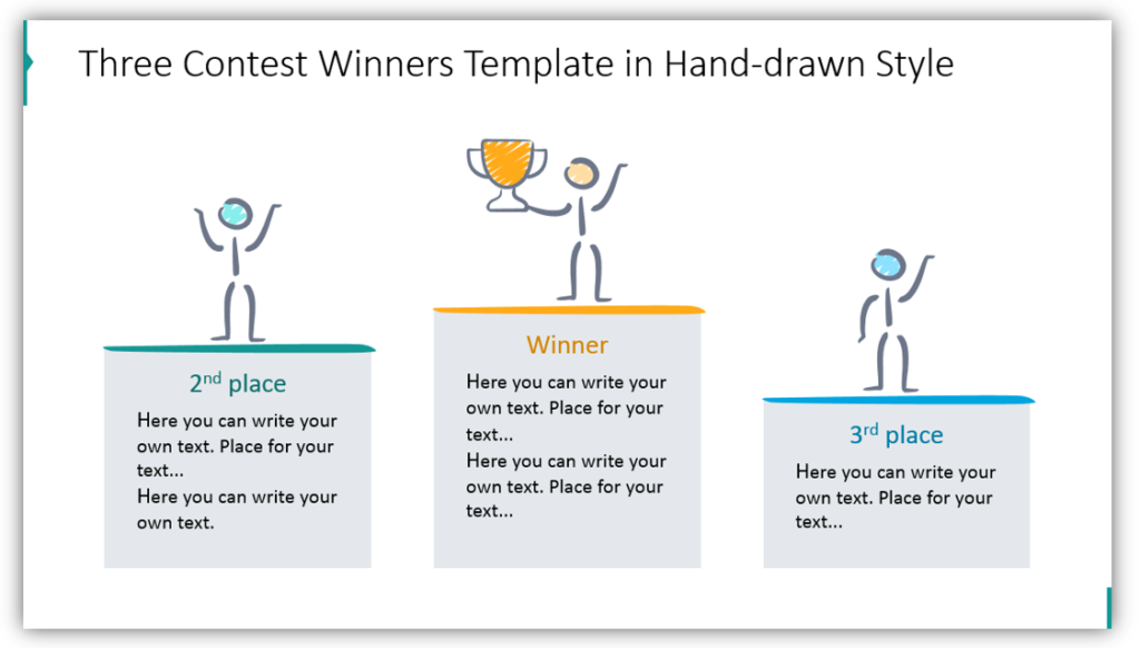 Three Contest Winners Template in Hand-drawn Style