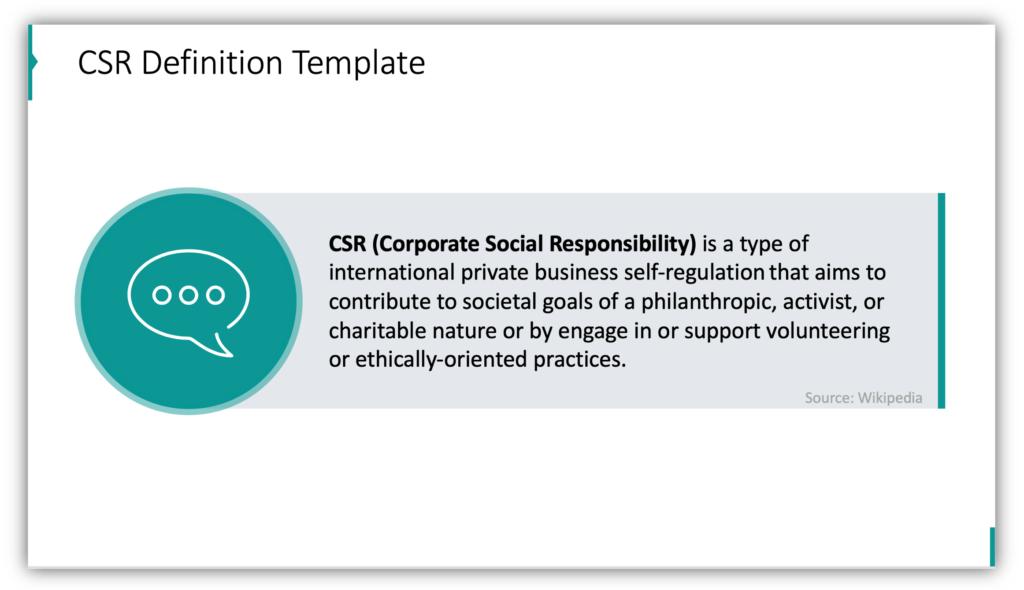 CSR Definition Template