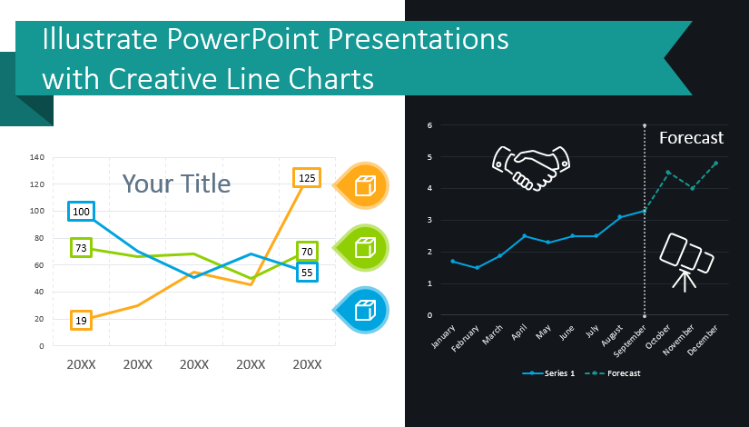 Illustrate PowerPoint Presentations with Creative Line Charts