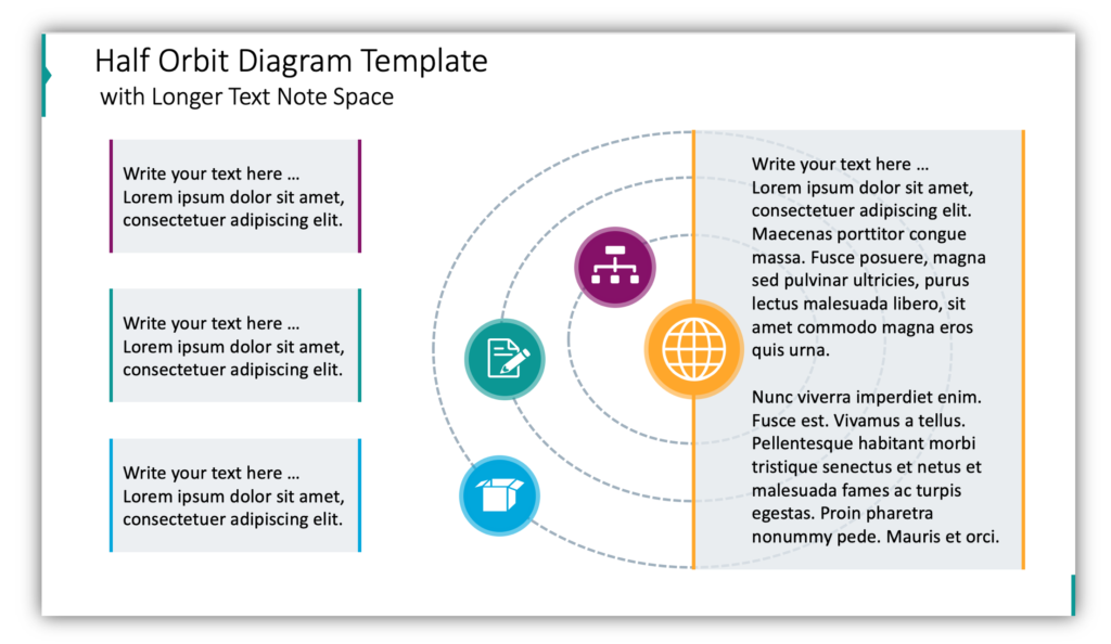 Half Orbit Diagram Template with Longer Text Note Space