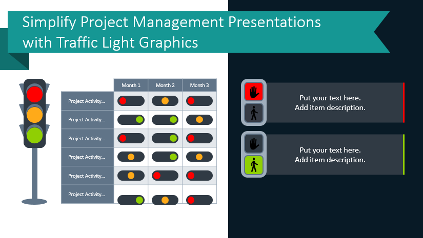 Simplify Project Management Presentations with Traffic Light Graphics