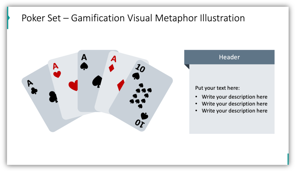 Poker Set – Gamification Visual Metaphor Illustration