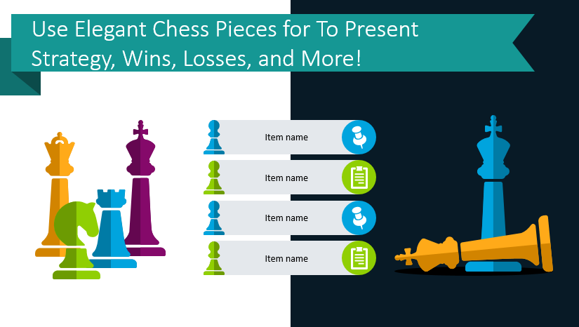 Use Elegant Chess Pieces for To Present Strategy, Wins, Losses, and More!