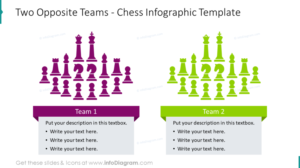 Two Opposite Teams - Chess Infographic Template