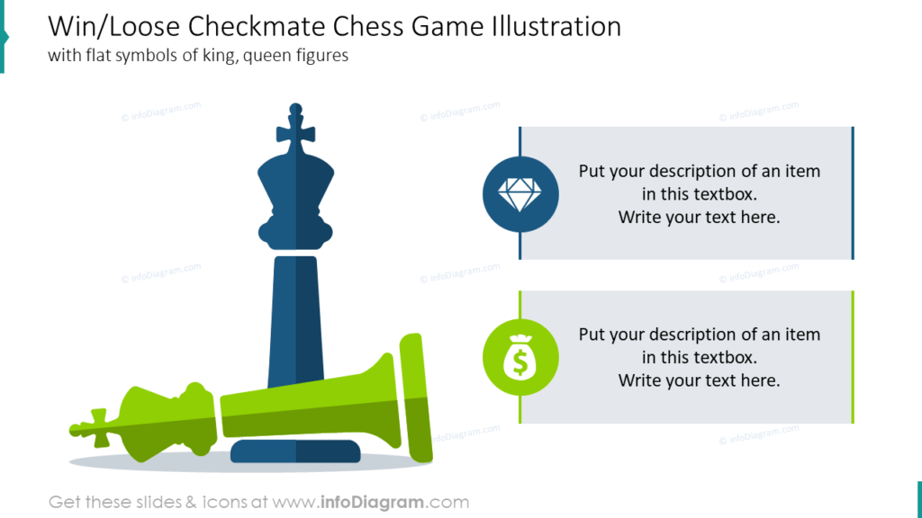 Win/Loose Checkmate Chess Game Illustration