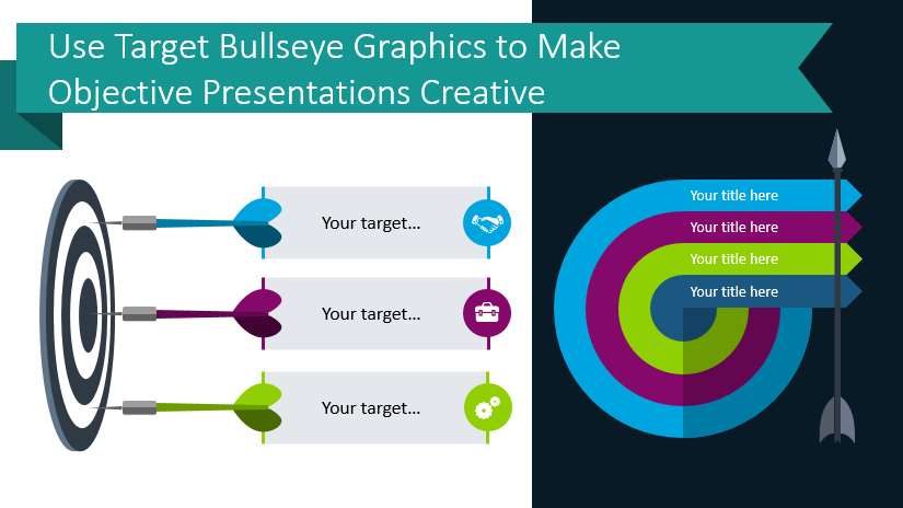 Use Target Bullseye Graphics to Make Objective Presentations Creative