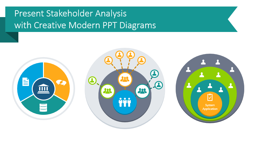 Present Stakeholder Analysis with Creative Modern PPT Diagrams