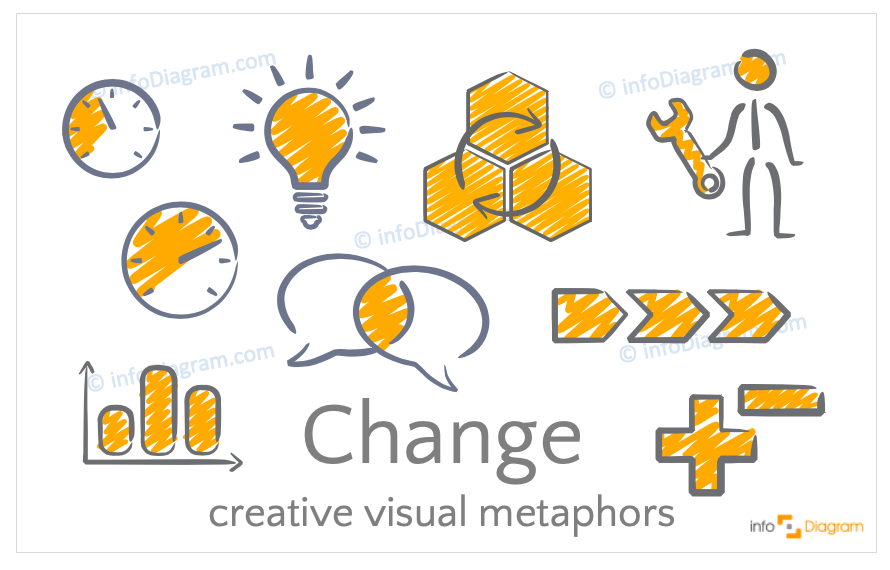 Change concept icons symbols outline for PowerPoint