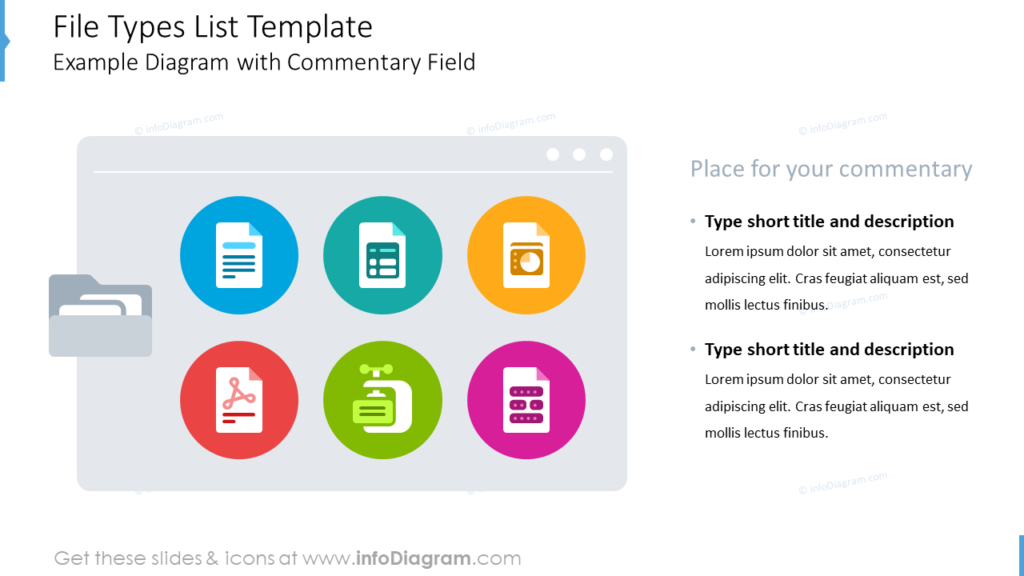 File Types List TemplateExample Diagram with Commentary Field