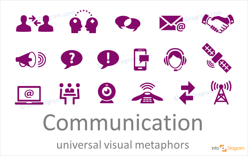 Communicative concept icons universal for PowerPoint