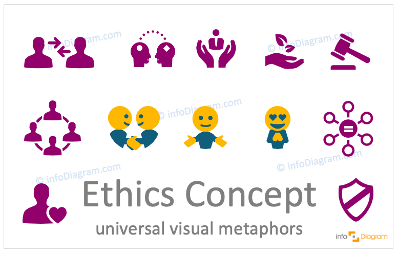 Ethnics concept icons symbols design-neutral flat for PowerPoint