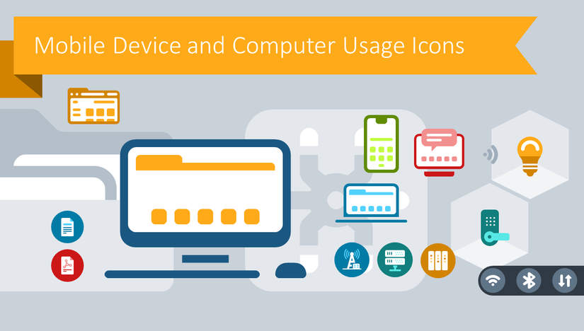 Creative Mobile Device and Computer Icons for Better Presentations