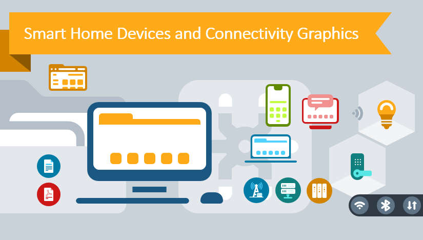 Present About Smart Home Devices and Connectivity Creatively with PPT Icons