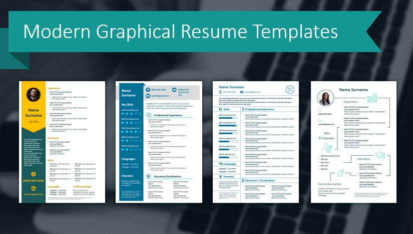 Job Hunting? Stand Out With a Modern Graphical Resume