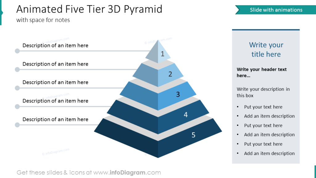 Animated Five Tier 3D Pyramid