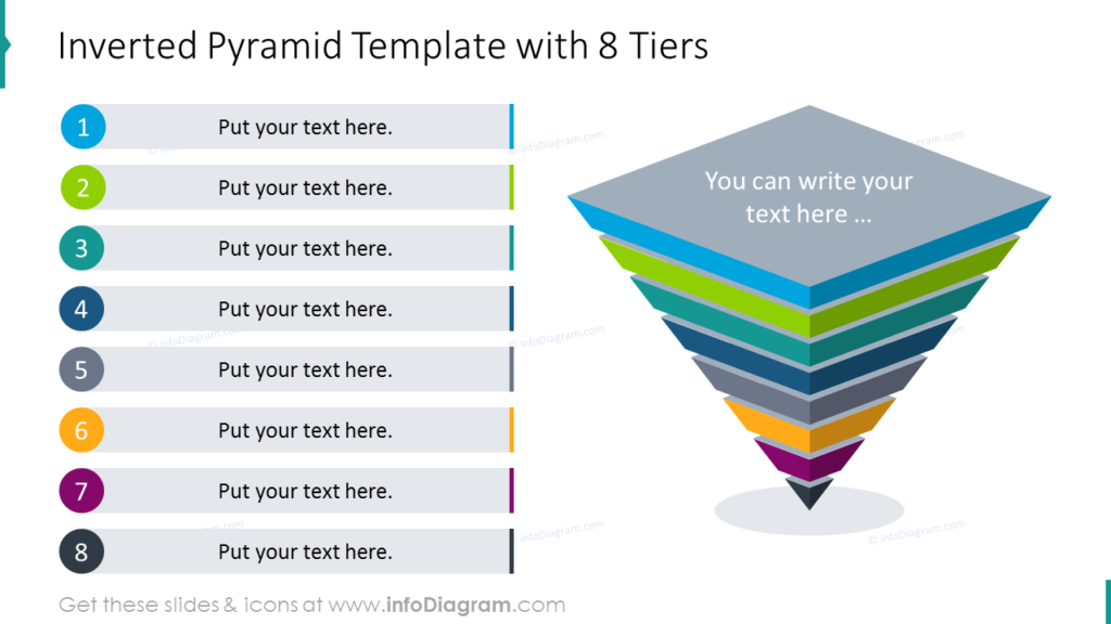 Inverted Pyramid Template with 8 Tiers