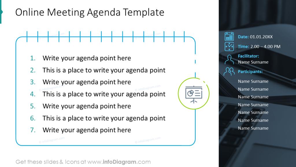 Online Meeting Agenda powerpoint Template