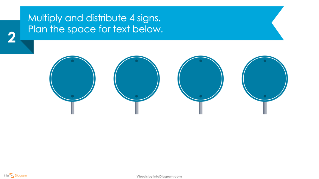 Guide on how to create your own Traffic Sign Infographics Slide in PowerPoint second step