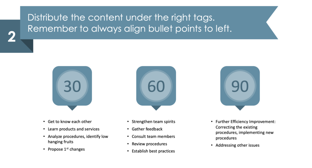 Guide on Designing a Creative 30 60 90 Days Plan PPT Diagram second step