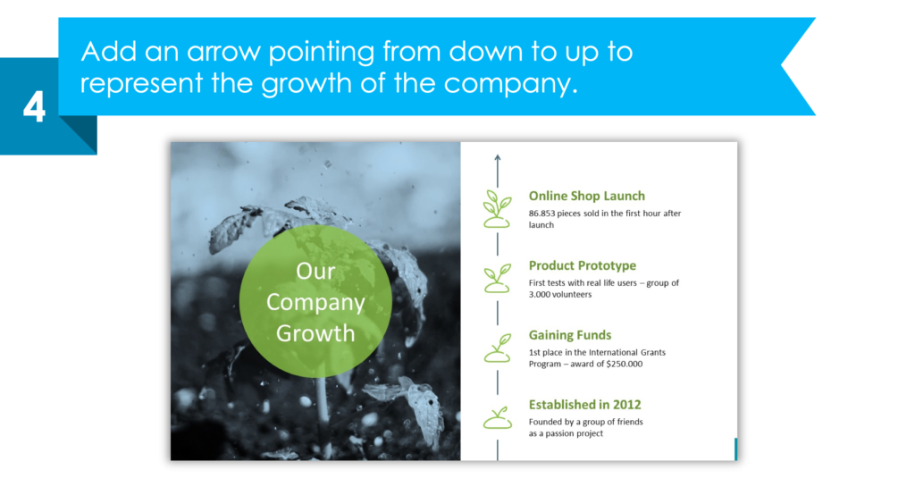 guide on Presenting Company Growth History with Timelines Creatively in PPT final step