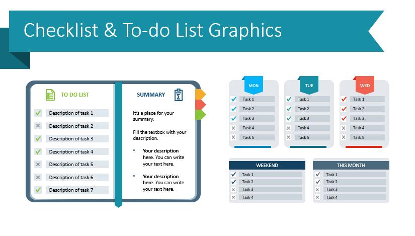 Use To-Do Checklist Graphics For Original Presentations