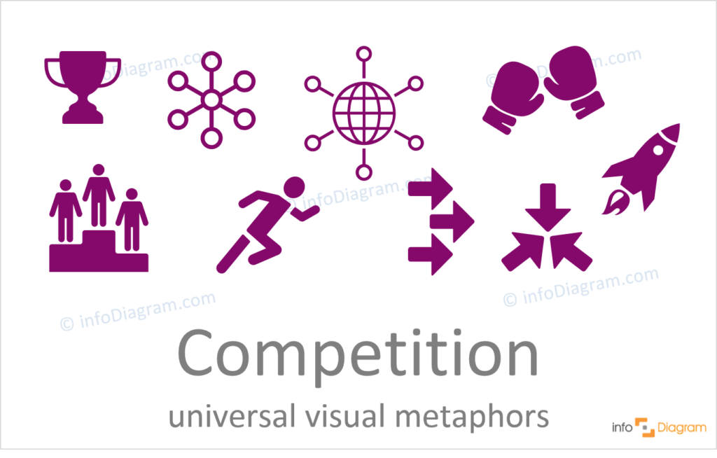 rivalry competition concept powerpoint flat icons ppt