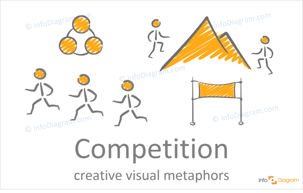 competition oncept icons creative hand drawn powerpoint