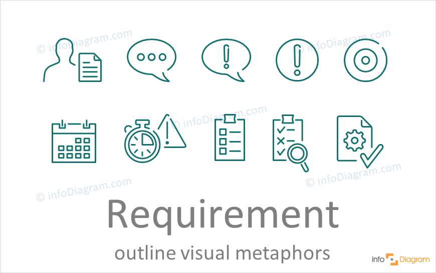 requirement concept powerpoint line icons ppt