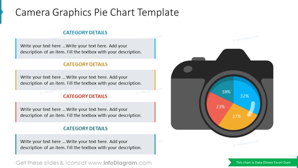 Camera Graphics Pie Chart Template