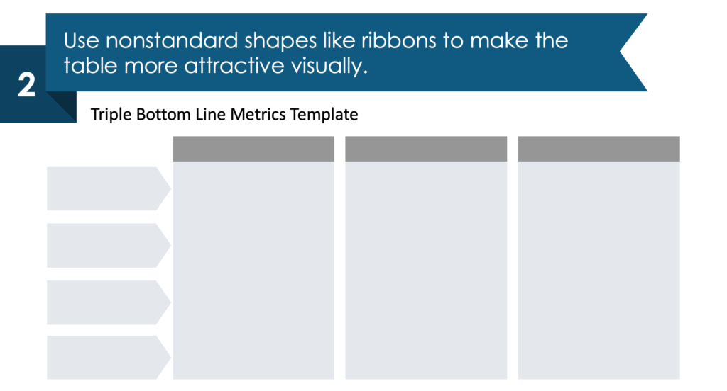 guide on how to visualize Triple Bottom Line Metrics step 2