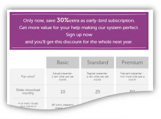 New way of getting single slide – Subscription Plans [news]