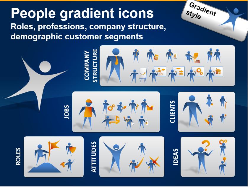 People Icons to Show Job, Company Roles, Customer Segments