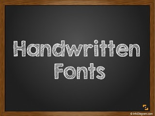 4 handwritten fonts for blackboard PPT slide design