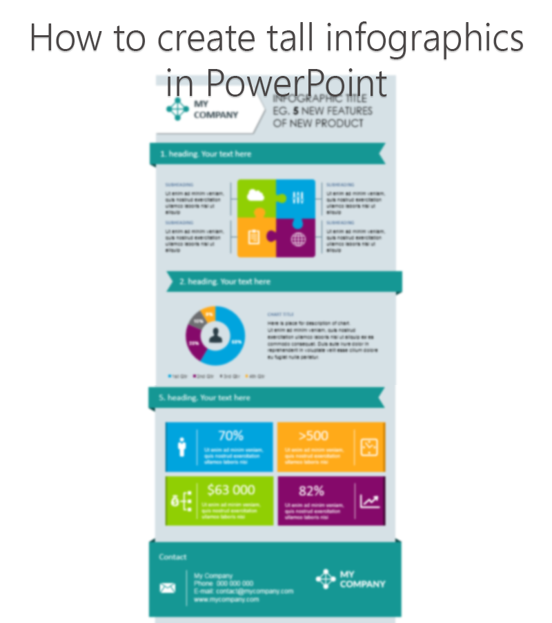 Infographics Ideas: How to make tall format infographics in PowerPoint