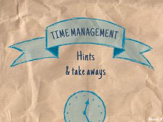 Designing doodle presentation on time management [Slideshare]
