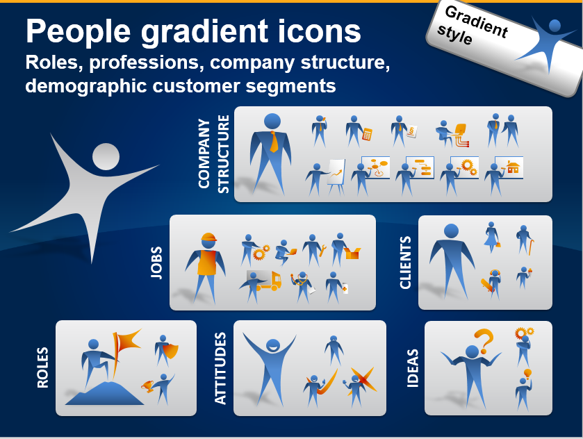 People Icons to Show Job, Company Roles, Customer Segments