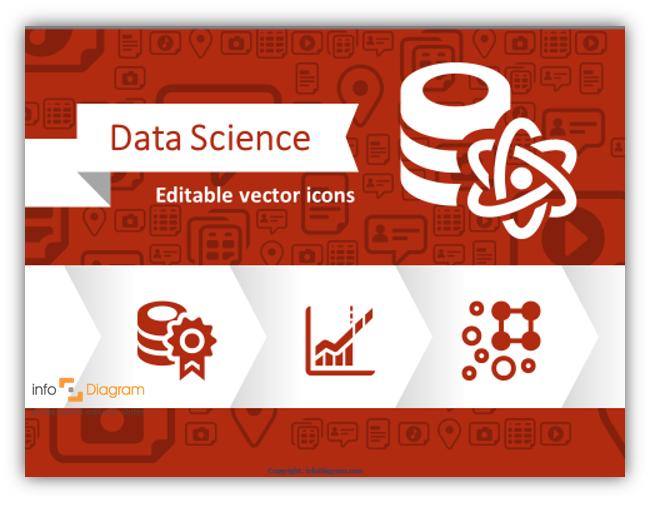 Explaining Big Data? Use editable Data Science Presentation Icons for illustrating data concepts
