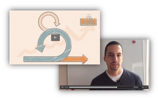 How Sebastian uses slide design for e-learning Scrum course