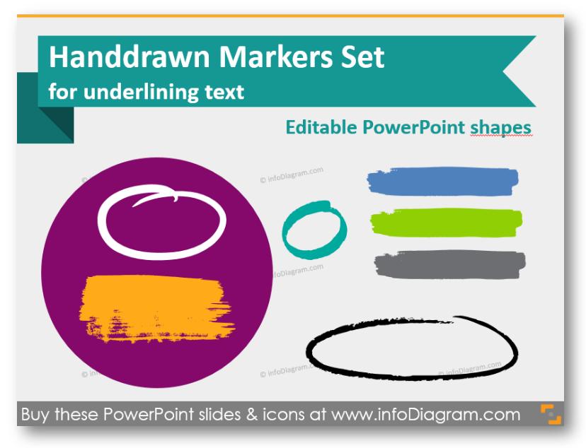 Hand-drawn Marker Shapes for Sketched Organic Slides