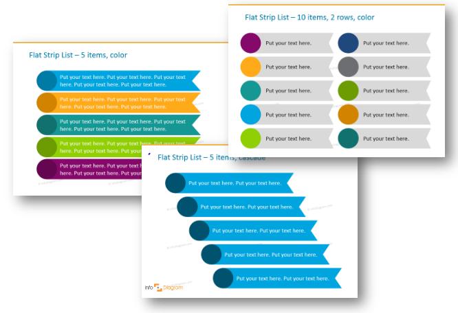 Get rid of bullet-points. Three creative list presentation ideas