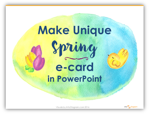 3 Steps to Unique Spring or Easter card in PowerPoint