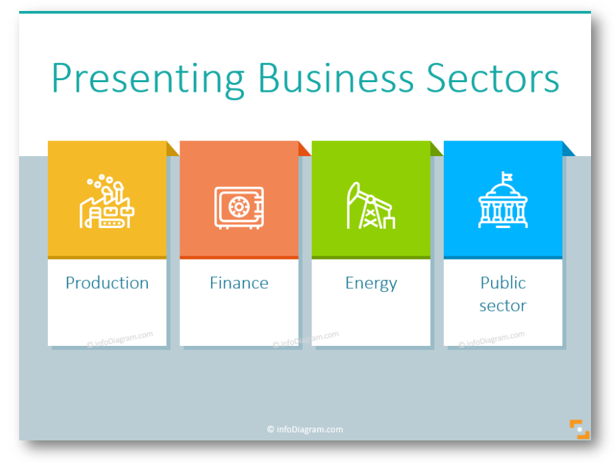 Presenting Business Sectors the Modern Way – Outline Industry Icons Overview
