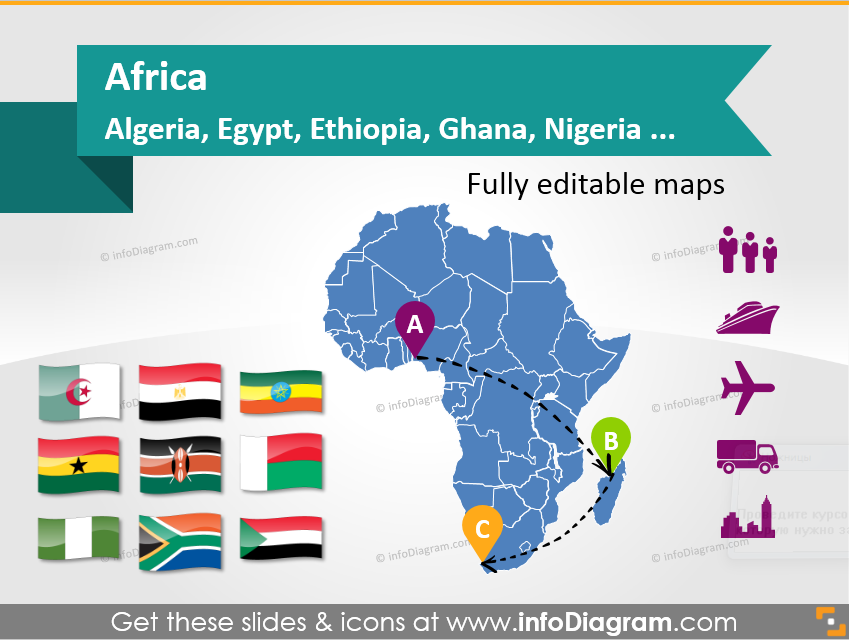 Examples of Presenting Political Map of Africa