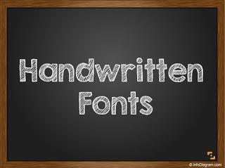 4 handwritten fonts for blackboard PPT slide design