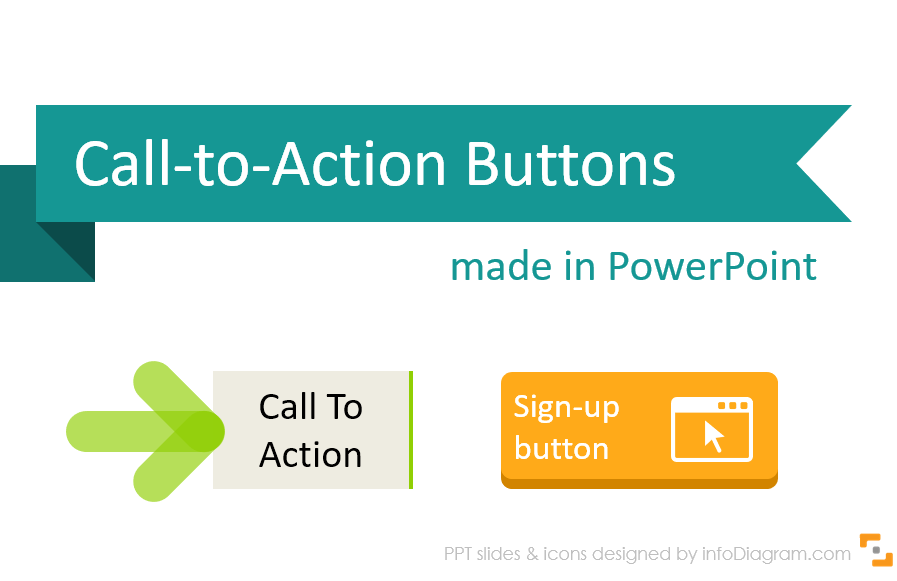 4 Examples of Designing Call to Action Buttons in PowerPoint
